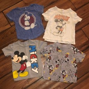 4 Mickey Mouse t-shirts